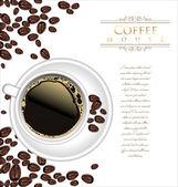 кофе и чай дизайн — Cтоковый вектор