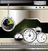 Racing urban background — Stock Vector