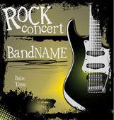 Grunge rock music background — Stock Vector