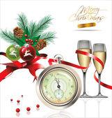 Veselé vánoce a šťastný nový rok pozadí — Stock vektor