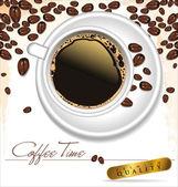 кофе тайм - элегантный лейбл векторные иллюстрации — Cтоковый вектор