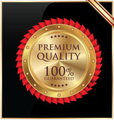 Premium quality gold and black label — Stock Vector