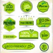 Set of organic labels — Stock Vector