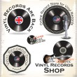Stock Vector: Vinyl records labels