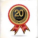 Anniversary golden label — Stock Vector #27897545
