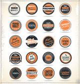 Premium quality vintage labels — Stock Vector