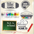 Back to School retro Design — Stock Vector