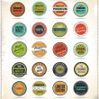 Set of Retro Vintage labels — Stock Vector