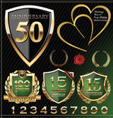 Anniversary golden labels — Vector de stock