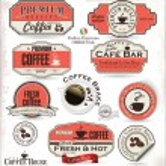 Set of Retro Vintage coffee labels — Stock Vector