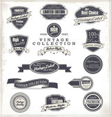 Premium Quality Labels - Collection — Stock Vector