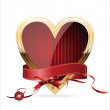Vector de stock : Heart isolated