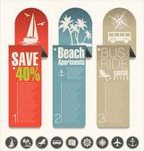 Modern design travel banner — Stock Vector