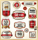 Anniversary labels — Stock Vector