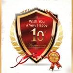 Anniversary golden label — Stock Vector #30167165