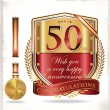 Anniversary golden labels — Stock Vector #30265851