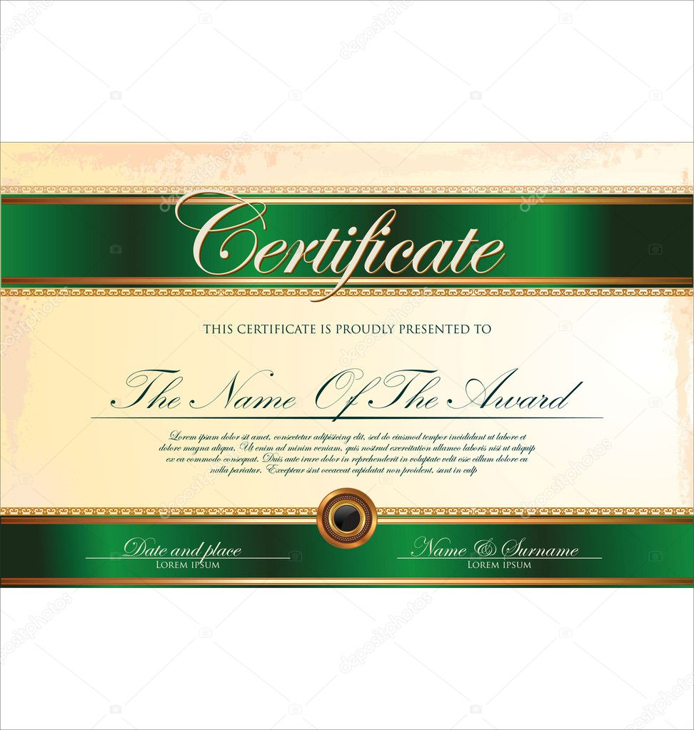 certificate template stock vector copy totallyout  certificate template stock illustration