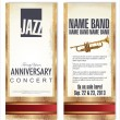 Ticket or flyer for jazz festival — Stock vektor