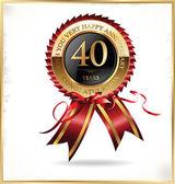 40 years anniversary label — Stock Vector