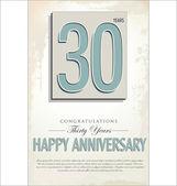 30 years anniversary background — Stock Vector