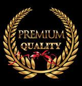 Premium quality golden laurel wreath — Stock Vector