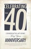 40 years anniversary background — Stock Vector