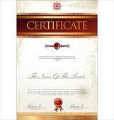 Certificate or diploma template, vector illustration — Stock Vector