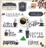 Coffee labels and badges — Stock Vector