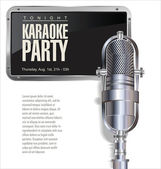 Karaoke background — Stock Vector