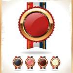 Blank award ribbon rosette — Stock Vector