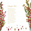 Red and gold berries background — Stockvektor