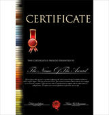 Colorful certificate — 图库矢量图片