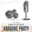 Stock Vector: Karaoke background