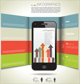 Infographics modern design background — Vettoriale Stock