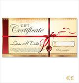 礼品证书模板 — 图库矢量图片