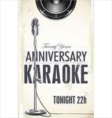 Karaoke party poster — Stock Vector