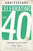 40 yıl yıldönümü retro arka plan — Stok Vektör