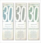 30 years anniversary retro background — Stock Vector
