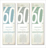 60 years anniversary background — Stock Vector