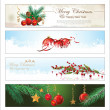 Merry Christmas and happy New year banner — Vector de stock