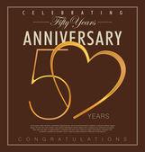 50 years anniversary background — Stock Vector