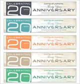 20 years anniversary retro background — Stock Vector