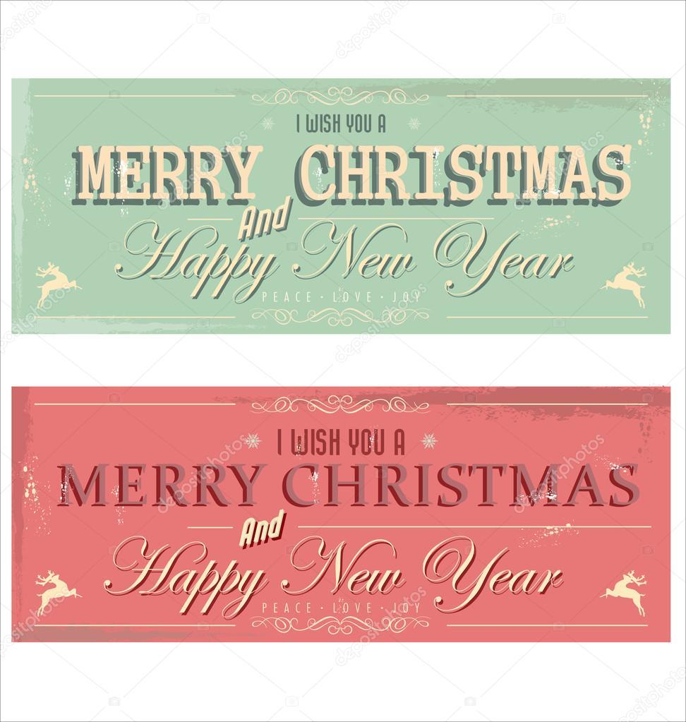 frohes neues jahr und frohe weihnachten retro hintergrund stockvektor totallyout 31497627