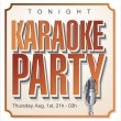 Stock Vector: Karaoke party background