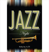 Jazz concert poster — Stock Vector