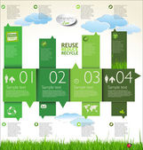 Infographic ecology template design — Stock Vector