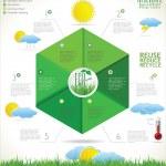 Modern ecology design template — Stock Vector #32816695