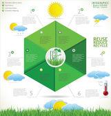 Modern ecology design template — Stock Vector
