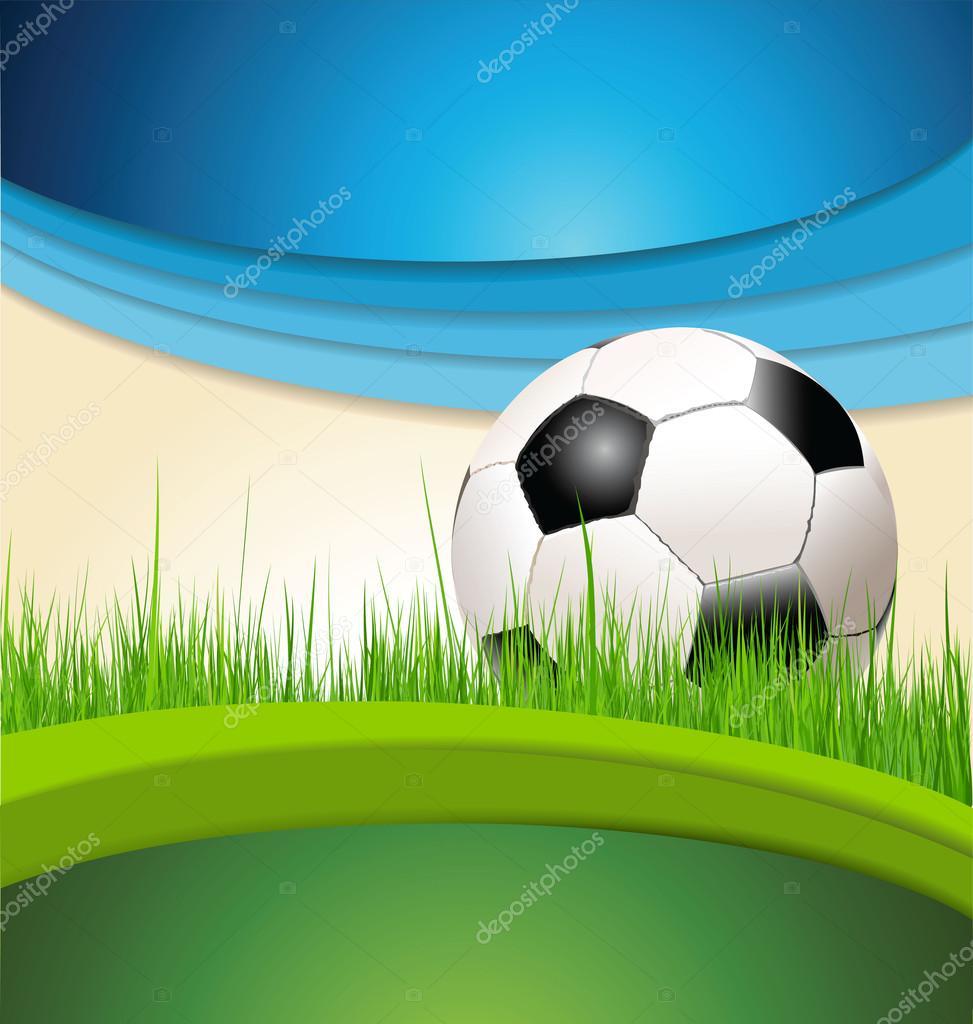 Ilustraci n de fondo verde y azul f tbol vector stock for Fondos de futbol