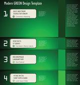 Moderna gröna formgivningsmall — Stockvektor